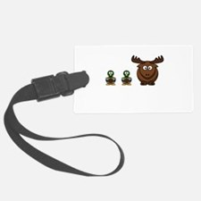 Duck Duck Moose Black.png Luggage Tag