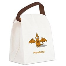 Pterodactyl Brown.png Canvas Lunch Bag