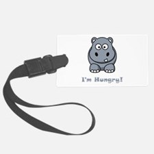 Hungry Hippo Grey.png Luggage Tag