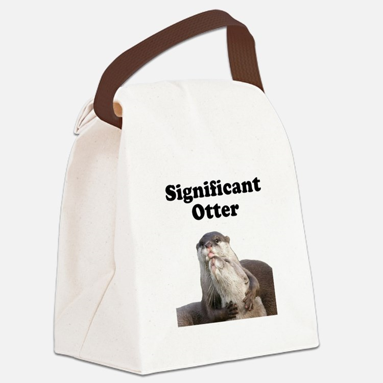 Significant Otter Black.png Canvas Lunch Bag