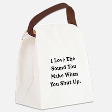 Shut Up Black.png Canvas Lunch Bag