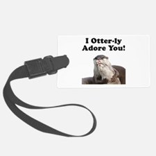 Otterly Adore Black.png Luggage Tag