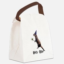 Hairy Otter Black.png Canvas Lunch Bag