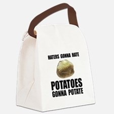 Potatoes Potate Black.png Canvas Lunch Bag