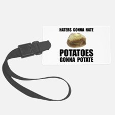 Potatoes Potate Black.png Luggage Tag