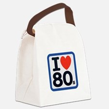 I Heart 80s Blue ONLY.png Canvas Lunch Bag