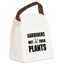 Gardeners Wet Plants Black.png Canvas Lunch Bag