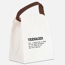 Teenager Definition Black.png Canvas Lunch Bag
