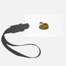 Sleep In Kitchen Black.png Luggage Tag