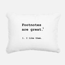 Footnotes Great Black.png Rectangular Canvas Pillo