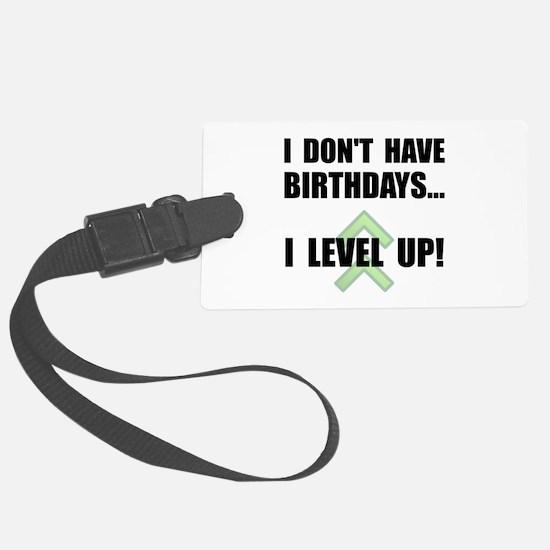 Level Up Birthday Luggage Tag