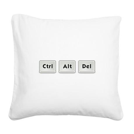 Ctrl Alt Del Key Square Canvas Pillow