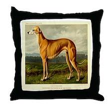 Greyhound 1880 Digitally Rema Throw Pillow