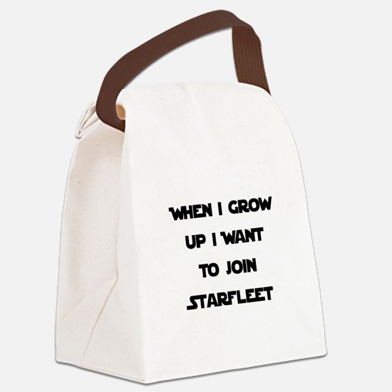 Starfleet Black.png Canvas Lunch Bag