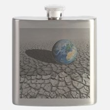 Global warming, conceptual artwork - Flask