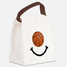 FBC Basketball Smile Black.png Canvas Lunch Bag