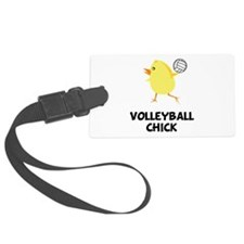 FBC Volleyball Chick Black.png Luggage Tag