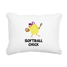FBC Softball Chick Black.png Rectangular Canvas Pi