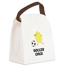 FBC Soccer Chick Black.png Canvas Lunch Bag