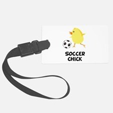 FBC Soccer Chick Black.png Luggage Tag