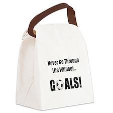 Soccer Goals Black (2).png Canvas Lunch Bag