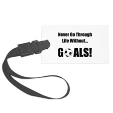Soccer Goals Black (2).png Luggage Tag