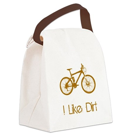 Mountain Bike Dirt Brown.png Canvas Lunch Bag