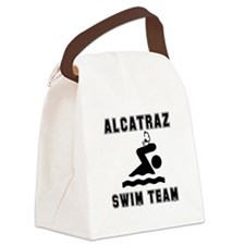 Alcatraz Swim Team Black.png Canvas Lunch Bag