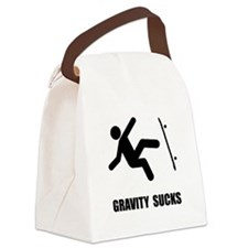 Skateboard Gravity Black.png Canvas Lunch Bag