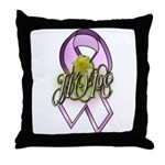 HOPE: Breast Cancer Awareness Throw Pillow