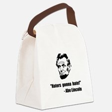 Haters Gonna Hate Lincoln Canvas Lunch Bag