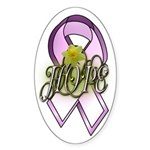 HOPE: Breast Cancer Awareness Oval Sticker
