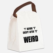 Weird Spelling Canvas Lunch Bag