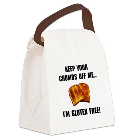 Crumbs Off Me Gluten Free Canvas Lunch Bag