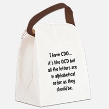 CDO Like OCD Canvas Lunch Bag