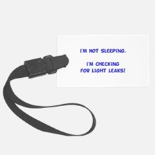 Light Leaks Blue.png Luggage Tag