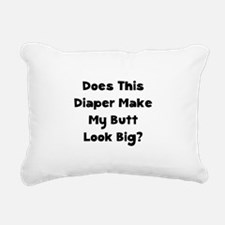 Does This Diaper Black.png Rectangular Canvas Pill