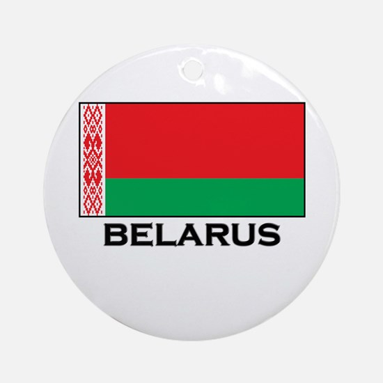 Belarus Flag Stuff Ornament (Round)