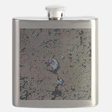 Nicholson crater, Canada, satellite image - Flask