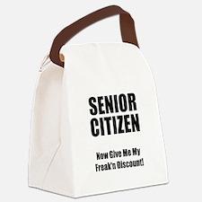 Senior Citizen Black.png Canvas Lunch Bag