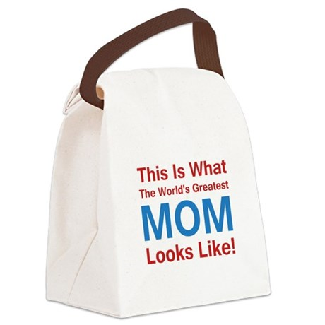 Greatest Mom Red.png Canvas Lunch Bag