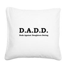 DADD Black.png Square Canvas Pillow