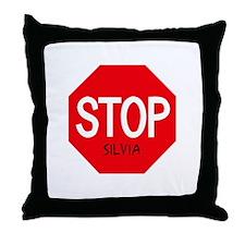 Stop Silvia Throw Pillow