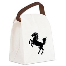 Horse Black.png Canvas Lunch Bag