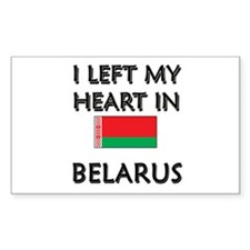 I Left My Heart In Belarus Rectangle Decal