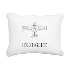 Flight Black.png Rectangular Canvas Pillow