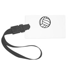 Volleyball Served Black.png Luggage Tag