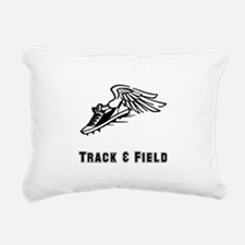Track Field Black Only.png Rectangular Canvas Pill