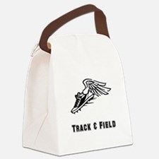 Track Field Black Only.png Canvas Lunch Bag