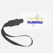 Felt Like Running Yellow.png Luggage Tag